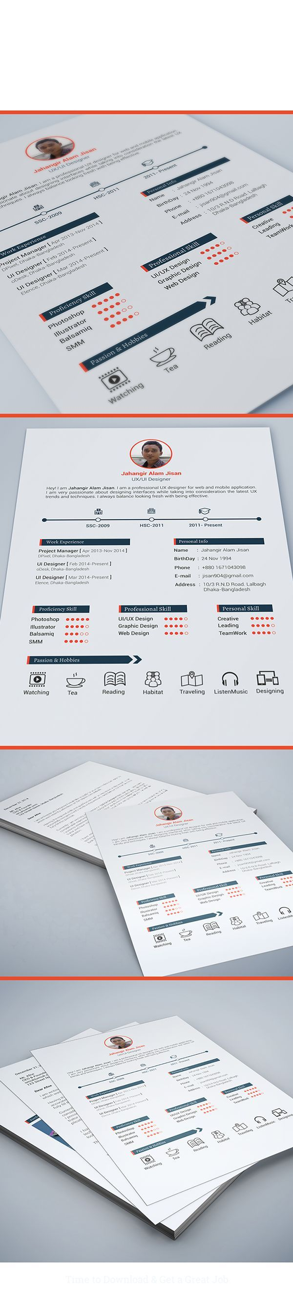9 best CV images on Pinterest | Resume design, Resume templates and ...