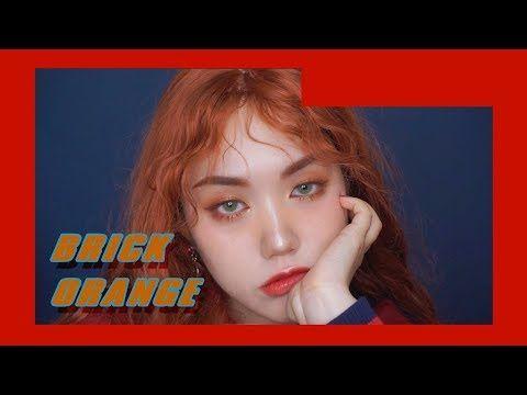 빈티지 브릭 오렌지 메이크업 ( W.히피펌 ) Vintage Brick Orange makeup - YouTube
