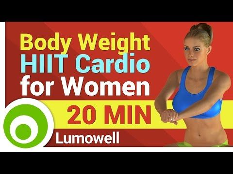 Body Weight HIIT Workout - Cardio Exercises for Women at Home - YouTube