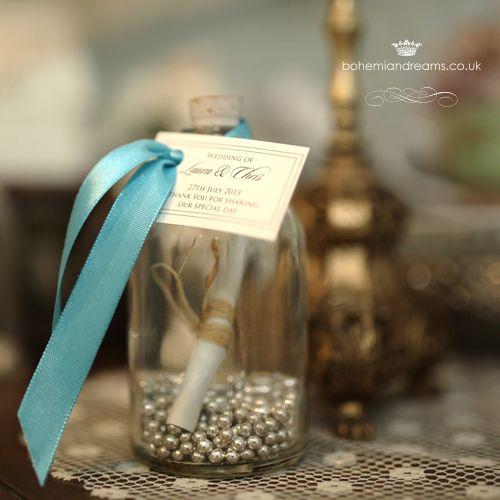 message in a bottle cookie recipe  wedding favour www.bohemiandreams.co.uk