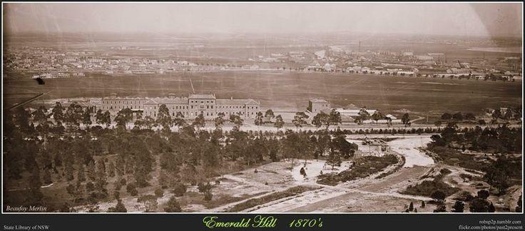 Victoria Barracks in Melbourne, 1870