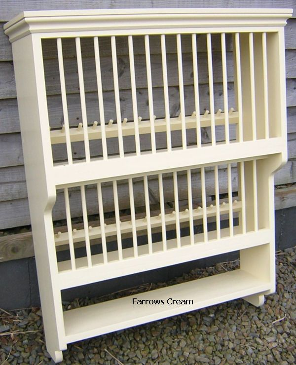 Pine Storage Solutions : Hand Made Pine Plateracks : Painted Double Plate  Rack With Shelf