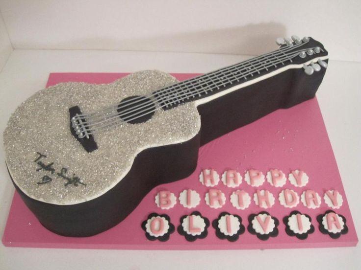 Guitar Cake - via @Craftsy