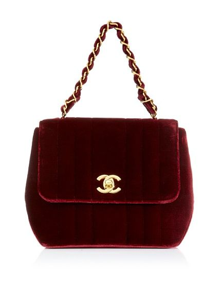 Velvet Chanel....Beautiful: Custom Pur, Evening Bags, Chanel Handbags, Chanel Bags, Fashion Bags, Color, Design Handbags, Red Velvet, Vintage Chanel