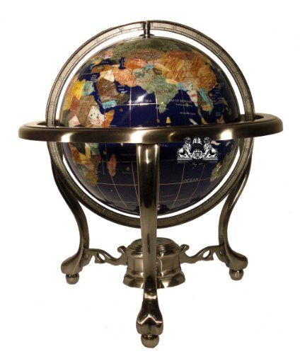 Unique Art 220-GT-BLUE-SILVER 13-Inch Tall Table Top Blue Lapis Ocean Gemstone World Globe with Silver Tripod Stand Unique Art Since 1996,http://www.amazon.ca/dp/B007VC4P38/ref=cm_sw_r_pi_dp_pXIGtb1AT1VZZS8Q