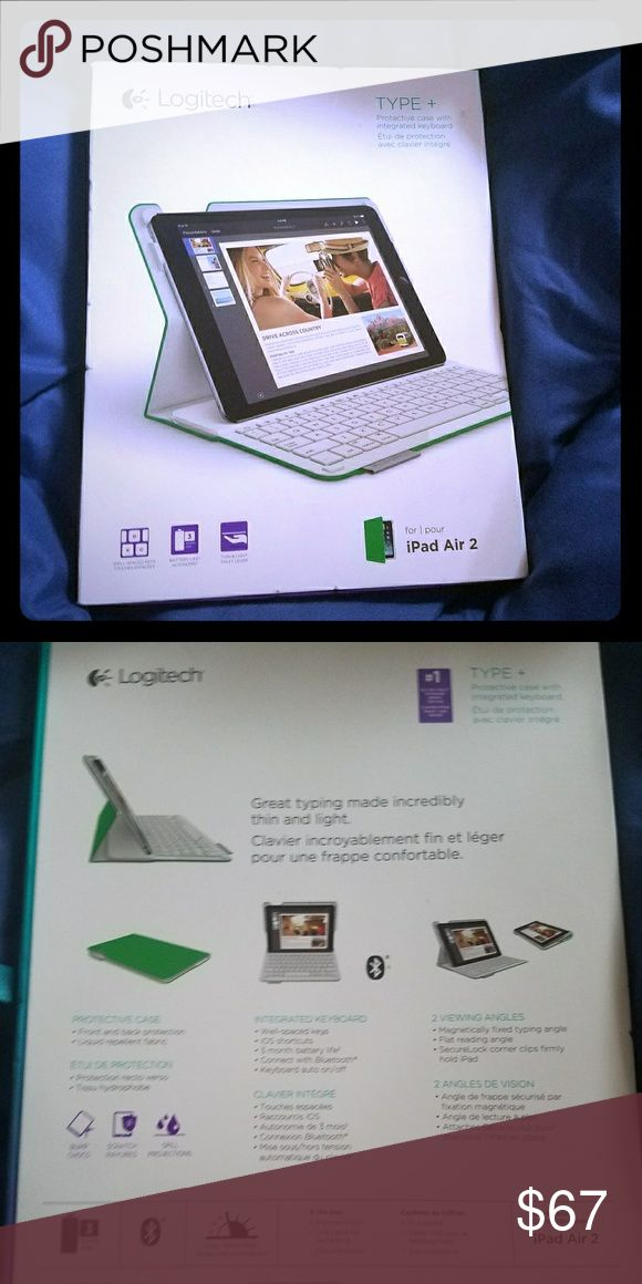 Logitech ipad air green case and keyboard Thin, light folio design includes an integrated Bluetooth keyboard with comfortably-spaced keys for a fast, fluid, and comfortable typing experienceKeyboard includes special time-saving iOS shortcut keys for common commands like copy, paste, undo, and moreFeatures a dual-view stand that holds your iPad at the ideal angle for typing and then lays flat for easily browsing the web, listening to music, and moreCover itself provides two-sided protection…