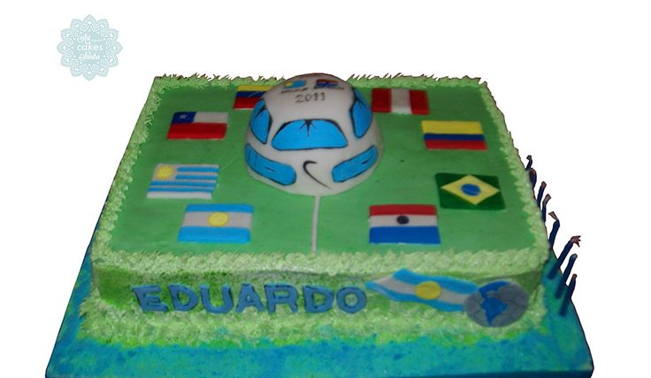 boy birthday cake theme mundial#bysandradesouza