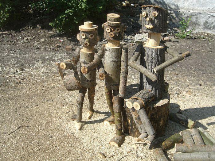 археологическая фото деревянных человечков на участок физической культуре