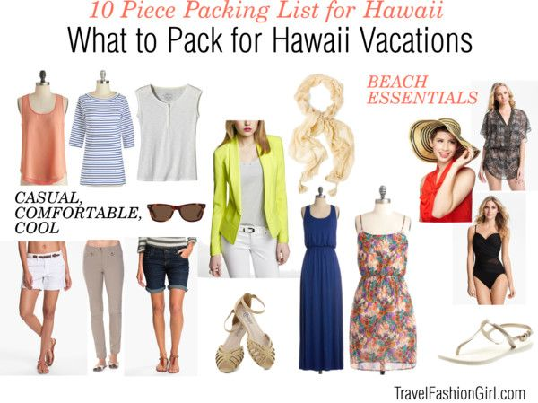 """""""What to Pack for Hawaii"""" by travelfashiongirl ❤ liked on Polyvore"""