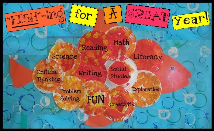 bulletin board for back to school. I think I will modify this and put student pictures in place of the words.