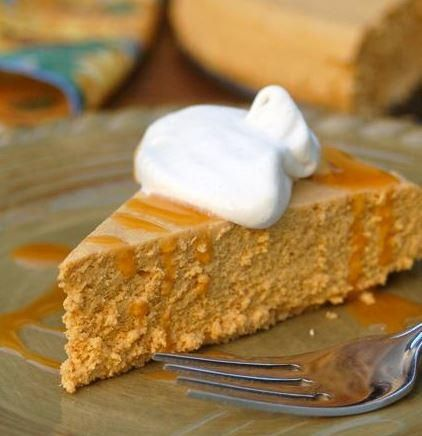 Low Calorie Slow Cooker Pumpkin Cheesecake | AllFreeSlowCookerRecipes.com