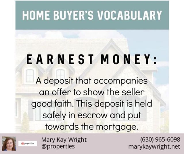 If You Are Buying A Home You May Have To Put Up Earnest Money Earnest Money Says To A Seller Im Serious About Buy Selling Real Estate Home Buying Real Estate