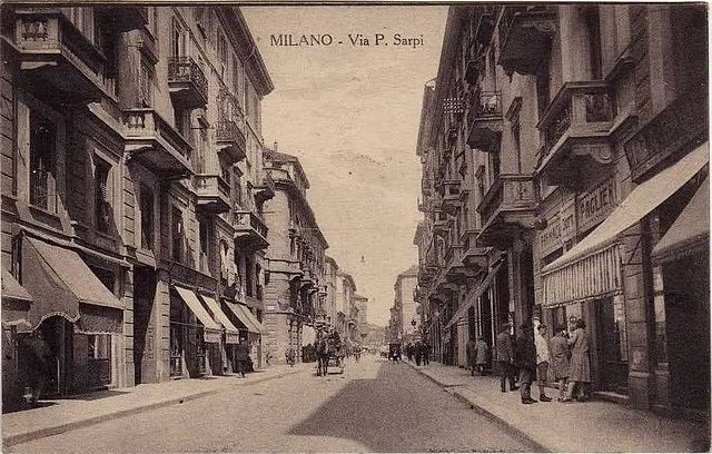 Milan, via Paolo Sarpi in 1928. Currently the heart of milanese Chinatown (where I live in).