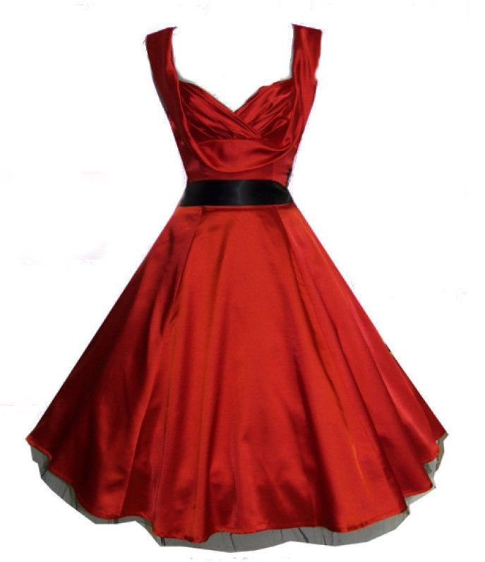 Vintage Looking Cocktail Dresses   ... SILKY FLARED VINTAGE STYLE COCKTAIL PROM DRESSES -CHOICE OF COLOURS