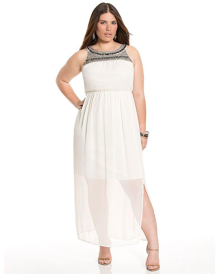 10 all white plus size party dresses models plus size for Lane bryant wedding dress