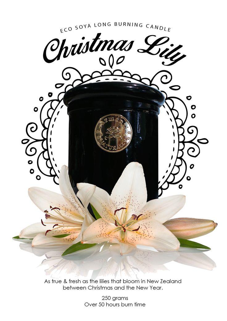 Surmanti Eco Soya Long Burning Candle - Christmas Lily