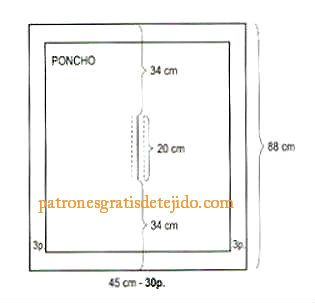 molde-poncho-nena-dos-agujas.jpg (315×303)