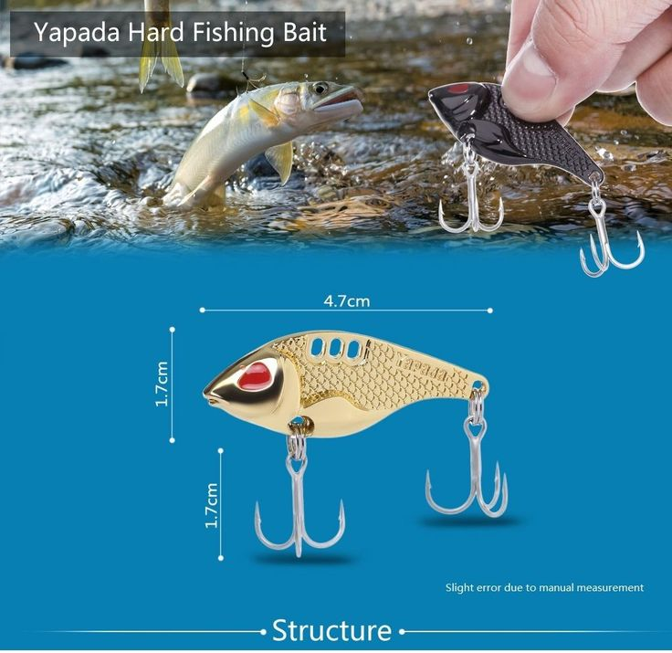 Yapada 301 15g Hard VIB Fishing Bait Fish-shaped Zinc Alloy Lure with Barbed
