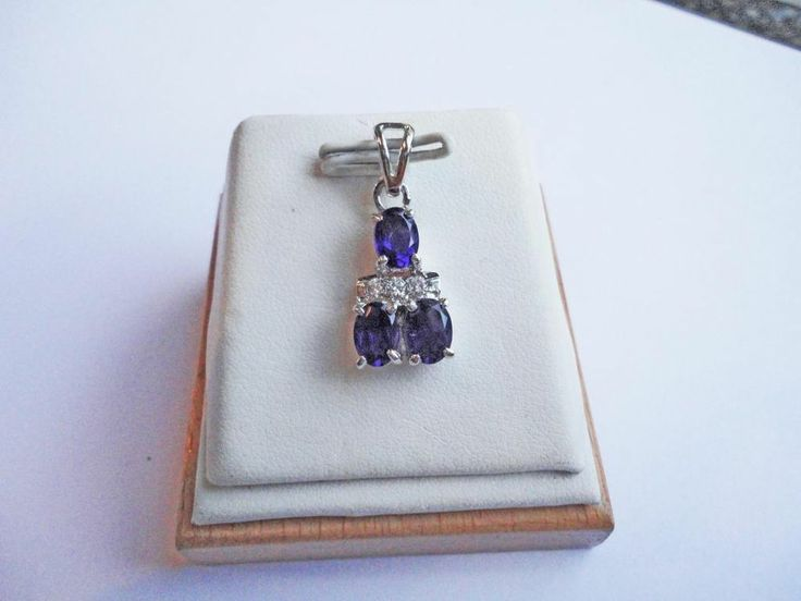 Jewelry 925 Streling Silver White Filled 2.50Ct Zircon Amethyst Necklace Pendant #Handmade #Pendant