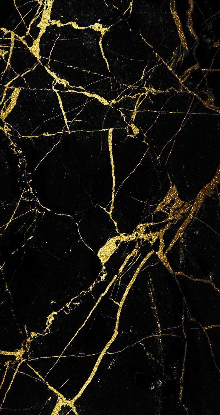 Gold And Black Marble Wallpaper