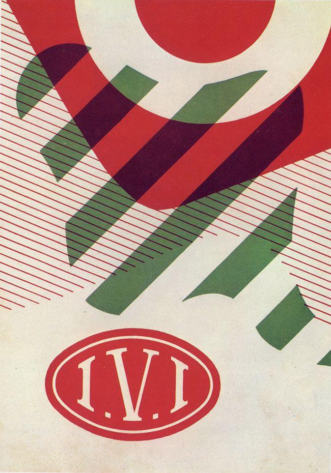 Remo Muratore tenured at Studio Boggeri. Poster cover for Industria Vernici…