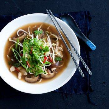 Tamarind Chicken and Shiitake Mushroom Noodle Broth