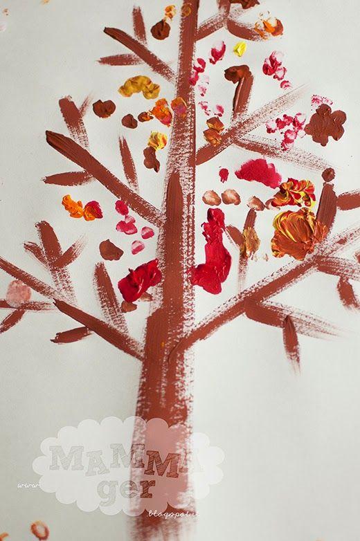 autumn tree paint