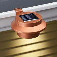 White Clip-on Gutter Solar Security Light from Collections Etc.