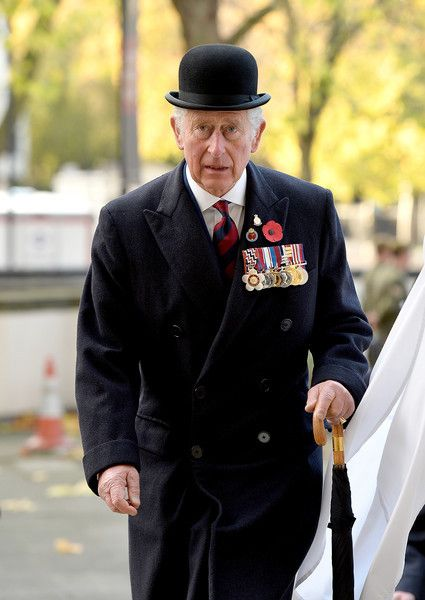 12 November 2017 Prince Charles, The Prince of Wales, Colonel, Welsh Guards, attended a Service at the Guards' Chapel and laid a wreath at the Guards' Memorial for the Welsh Guards' Regimental Remembrance Sunday, London.