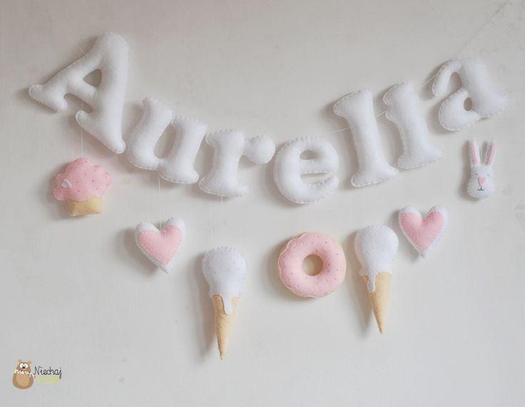 Hallo sweethearts! :)  Mijn handgemaakte zoete voelde letters met schattige…