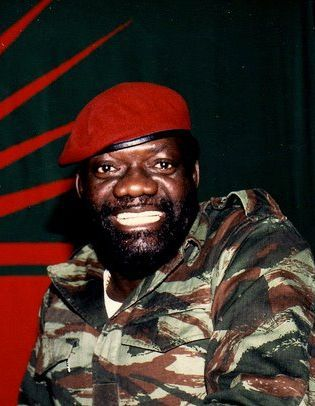 Jonas Savimbi (August 3, 1934 – February 22, 2002) was an Angolan political and military leader. He founded and led UNITA, a movement that first waged a guerrilla war against Portuguese colonial rule, 1966–1974, then confronted the rival communist MPLA during the decolonization conflict, 1974–75, and after independence in 1975 fought the ruling MPLA in the Angolan Civil War until his death in a clash with government troops in 2002