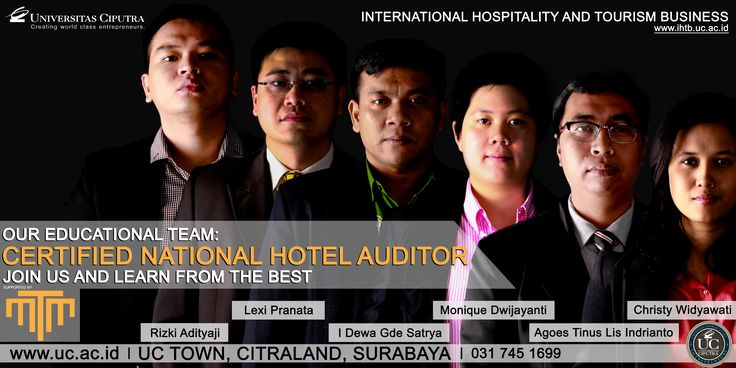 Congratulation IHTB UC! Certified National Hotel Auditor. Join us and learn from the best.