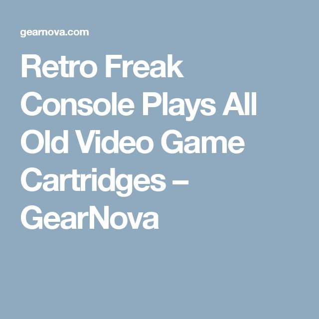 Retro Freak Console Plays All Old Video Game Cartridges – GearNova