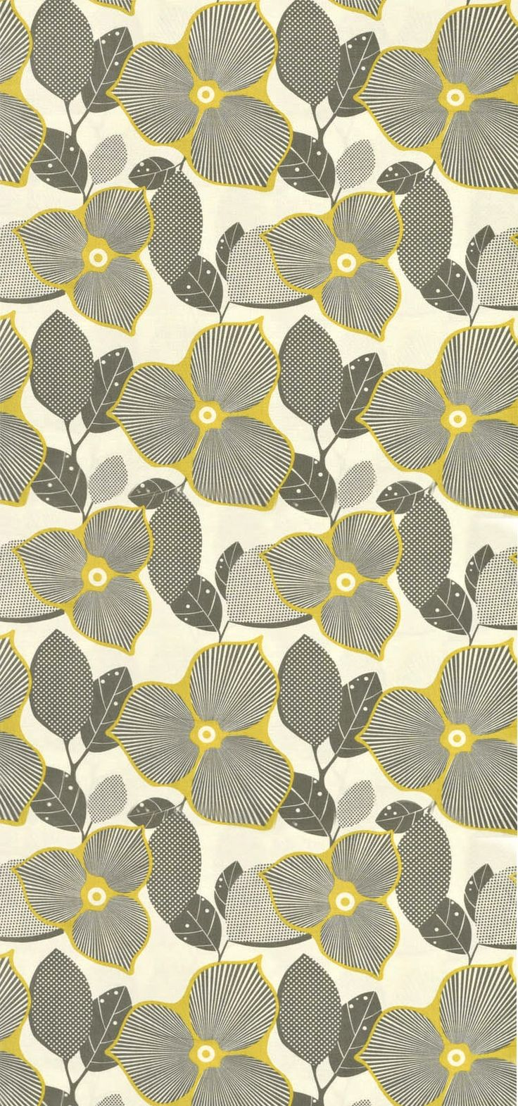 Amy Butler Pattern Grey And Yellow
