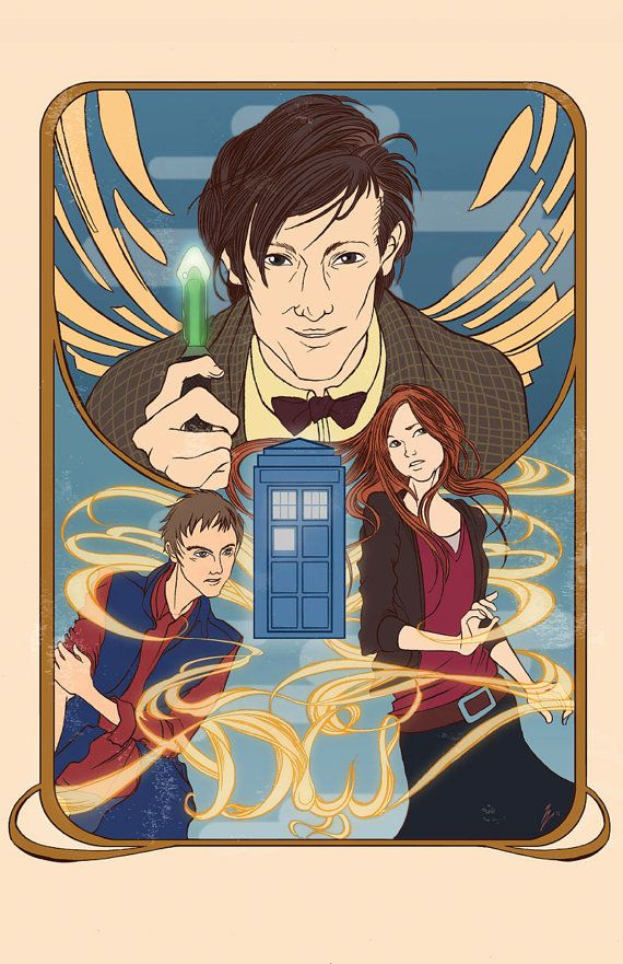 Eleventh Doctor Who and the Ponds from Dr. Who by yienyipfan, $12.00