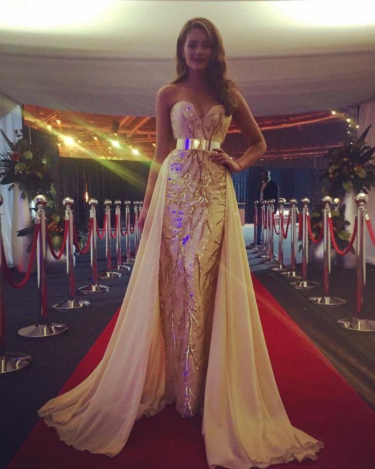 Rolene Strauss, Miss World evening gown.