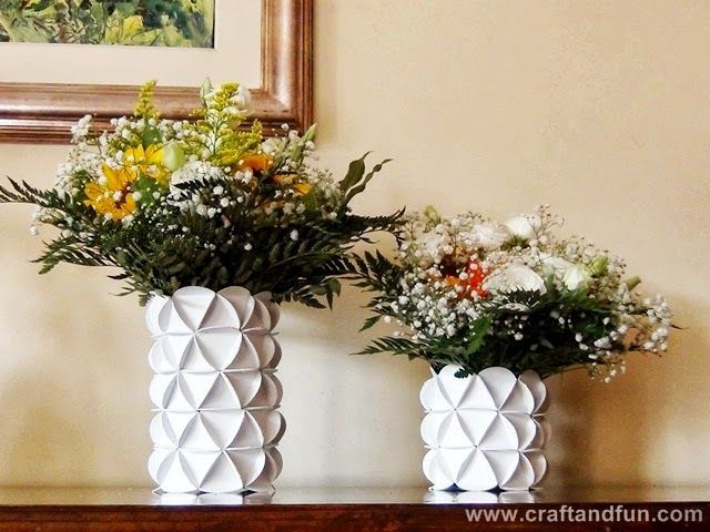 Riciclo Creativo Carta (How to make vases from cardboard boxes)