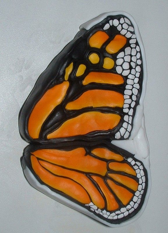 How-to tutorial - Making a monarch butterfly cane from polymer clay