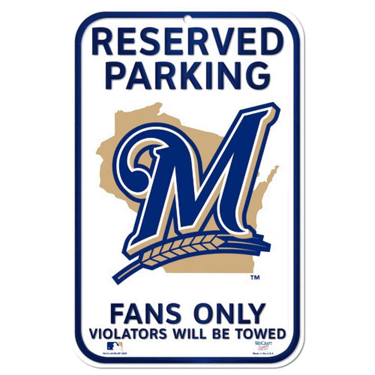 "Milwaukee Brewers WinCraft 11"" x 17"" Plastic Sign - $8.79"