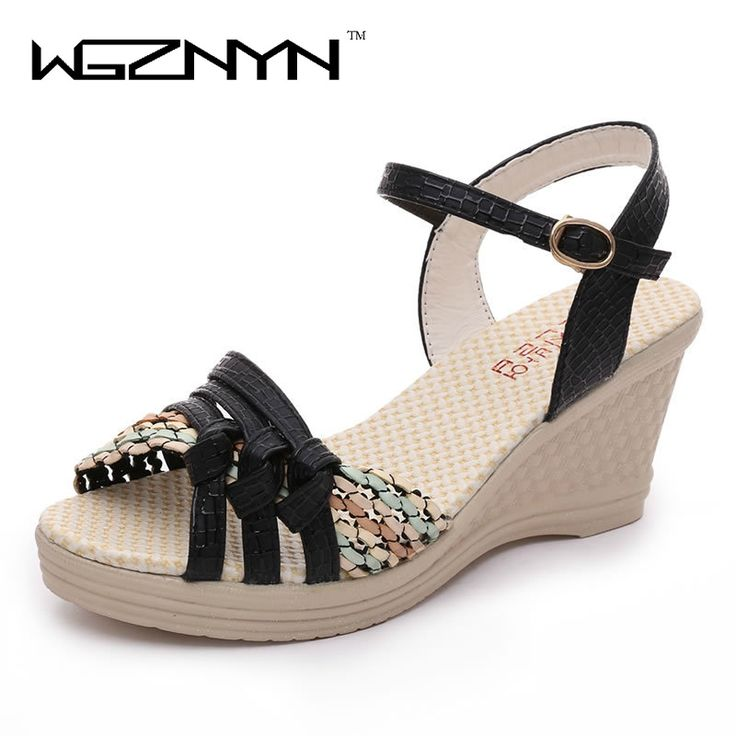 13.56$  Watch now - WGZNYN 2017 Summer Woman Platform Sandals Women Soft Leather Casual Gladiator Wedges Women Shoes Zapatos Mujer Z3  #buychinaproducts