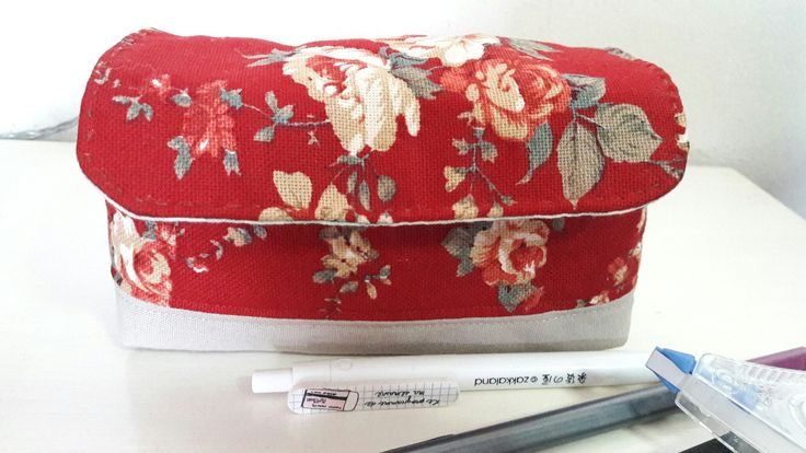 Canvas stationery pouch
