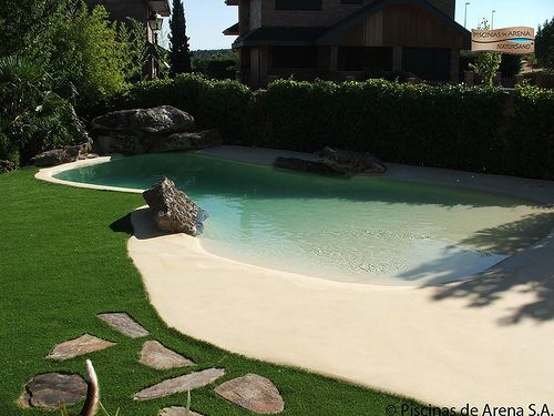 Piscinas de arena swimming pools pool spa and patios - Piscinas de arena com ...