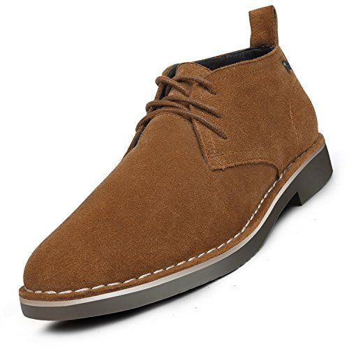 Suede Leather Chukka Boots For Men Modern Lace up Oxford Desert Ankle  Booties Brown 8. df591a45fa5