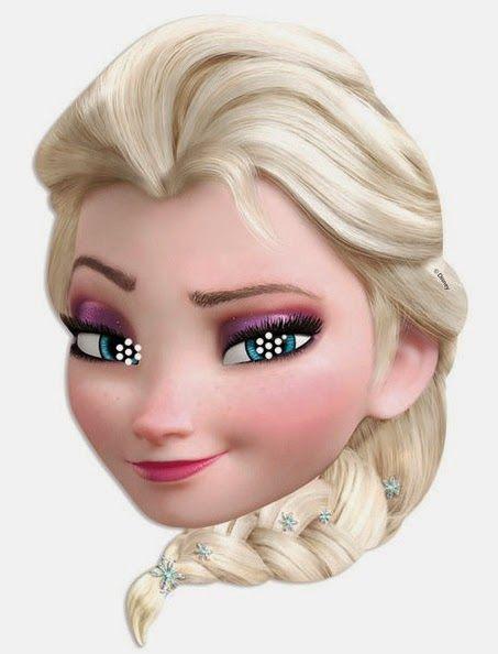 Frozen: Elsa Free Printable Masks.