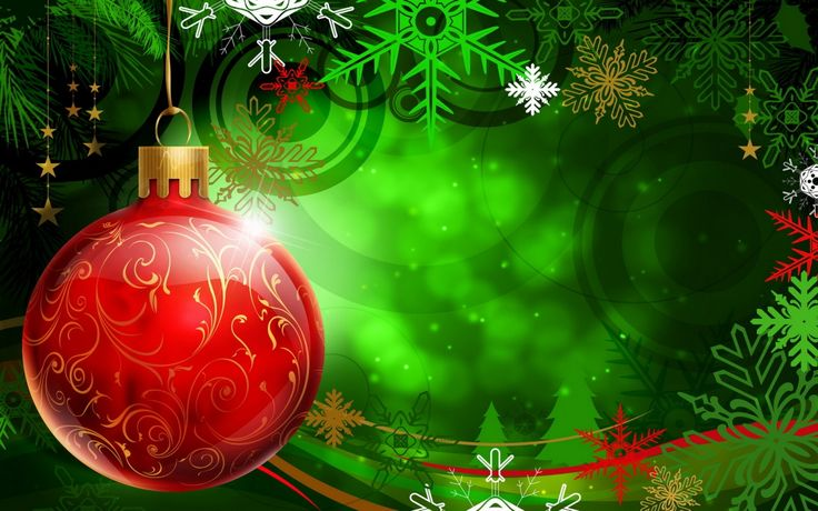 Free Christmas Wallpapers and PowerPoint Backgrounds Pictures- Green Xmas | PowerPoint E-learning Center