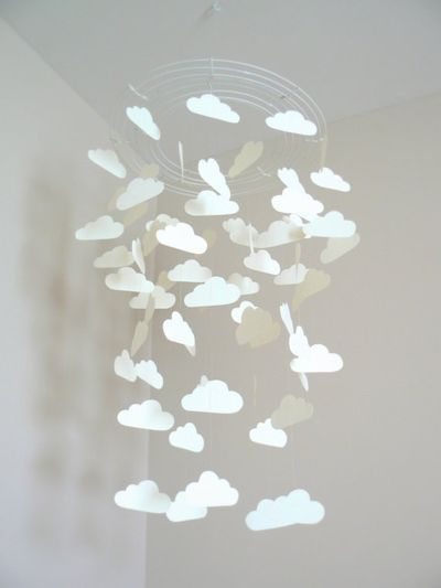 DIY cloud mobile.