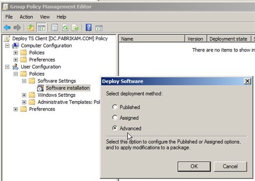 Active directory software deployment upgrade