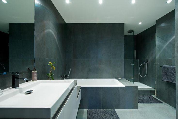 18 best meubles salle de bain images on pinterest cabinet bathroom ideas and furniture - Salle de bain en ardoise ...