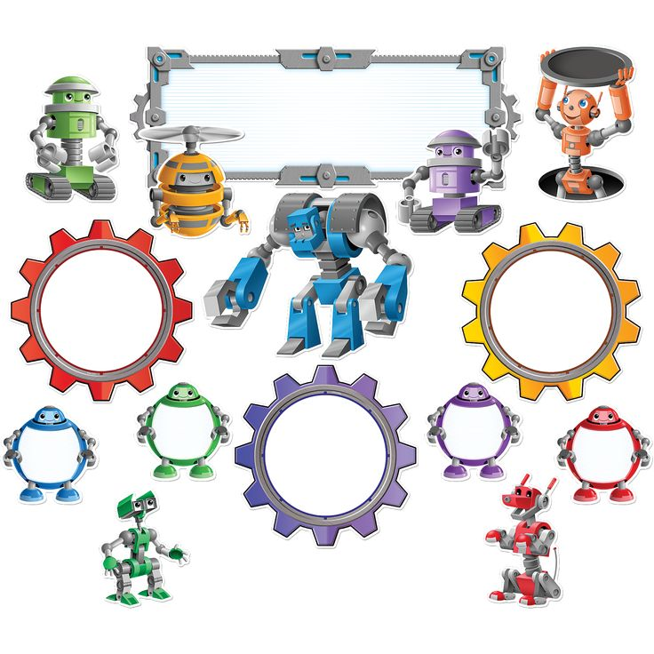 Robots Bulletin Board Display Set