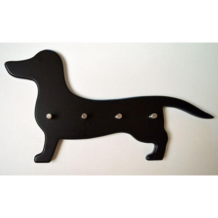 Garderobe / Schlüsselbrett Dackel schwarz ⋆ Hunde